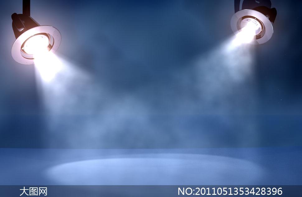 舞台聚光灯烟雾高清图片素材 - 大图网设计素材