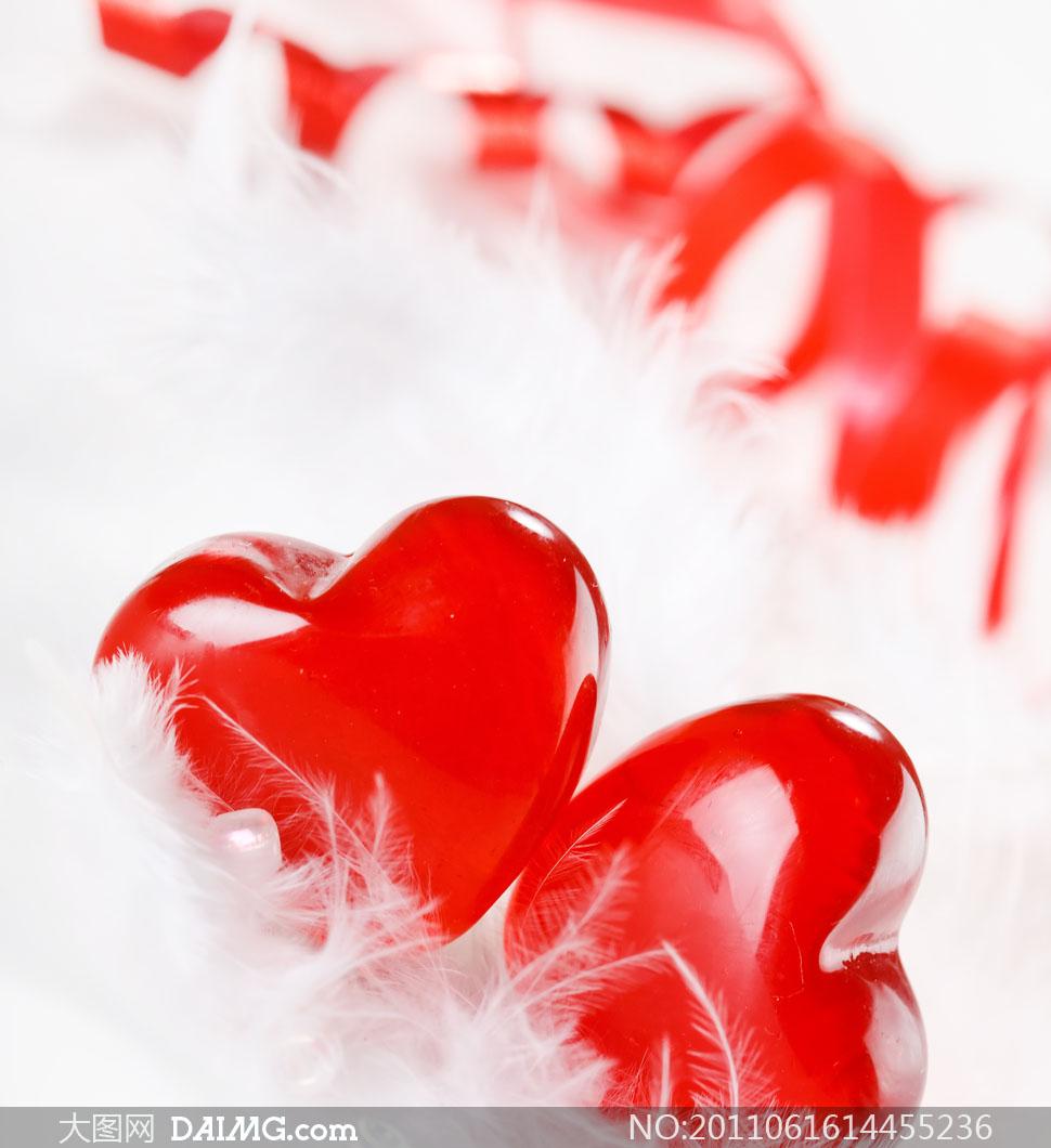 素材爱情情人节桃心爱心心形红