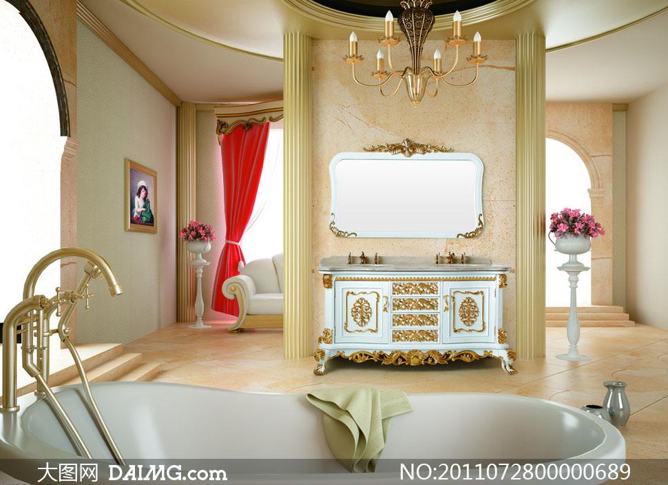 欧式室内效果图设计图片素材