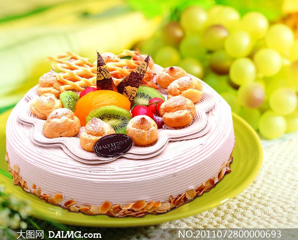 水果蛋糕 水果/盘装水果蛋糕摄影图片 / 大图网设计素材下载