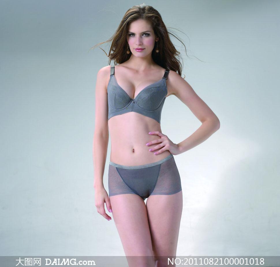 内衣模特文胸展示摄影图片 大图网设计素材下