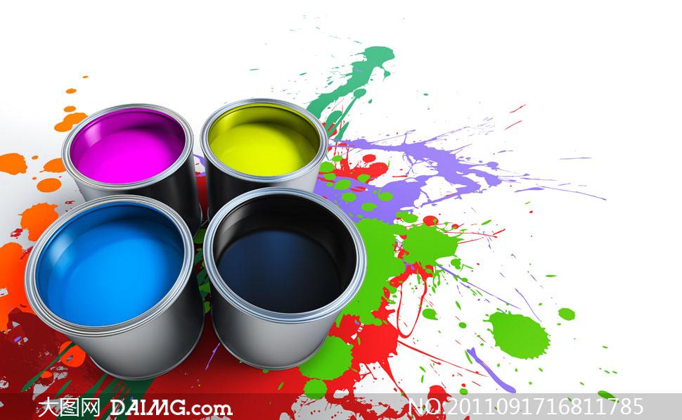 油漆颜料素材图片