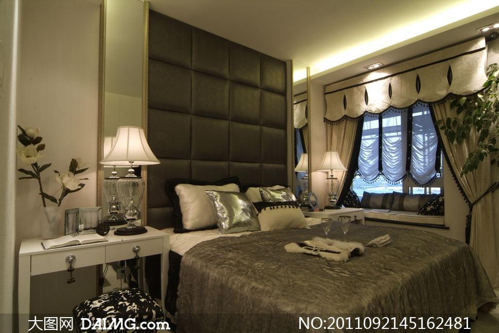 卧室家具摆设布置高清摄影图片