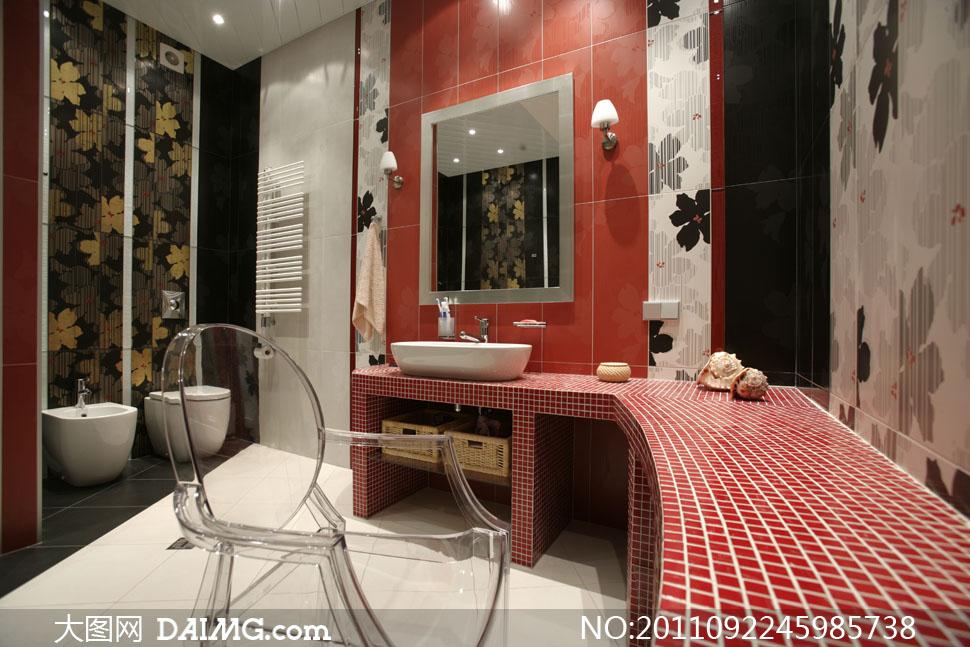 豪華現代風格浴室裝修設計高清圖片