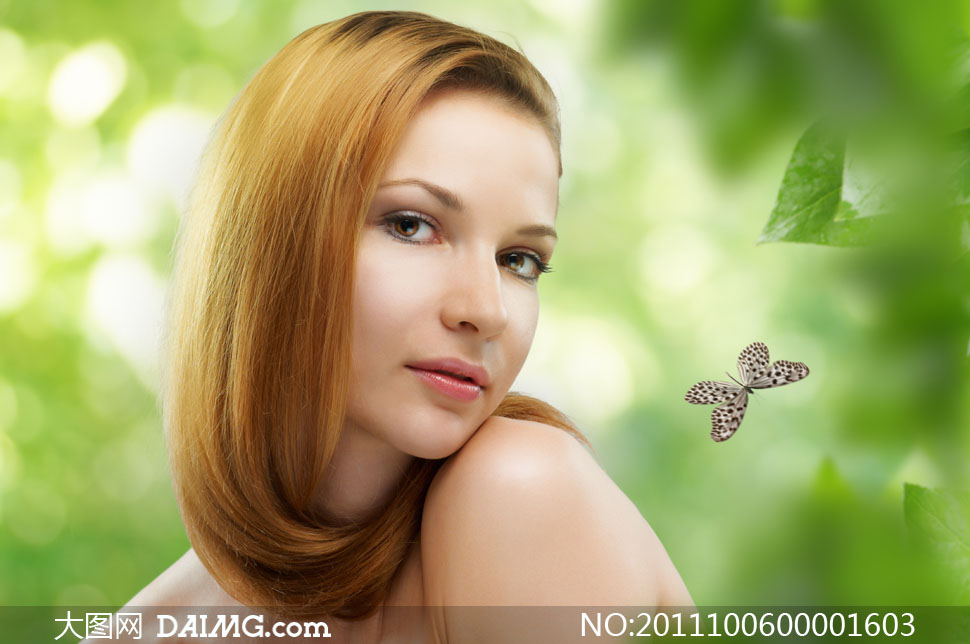 美女与花卉摄影图片素材 大图网设计素材下载