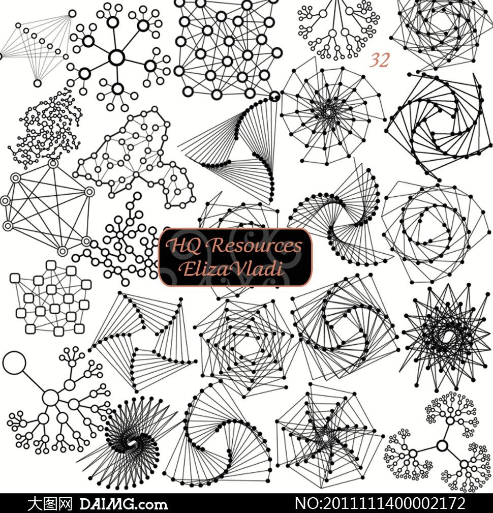 高清新分子结构笔刷