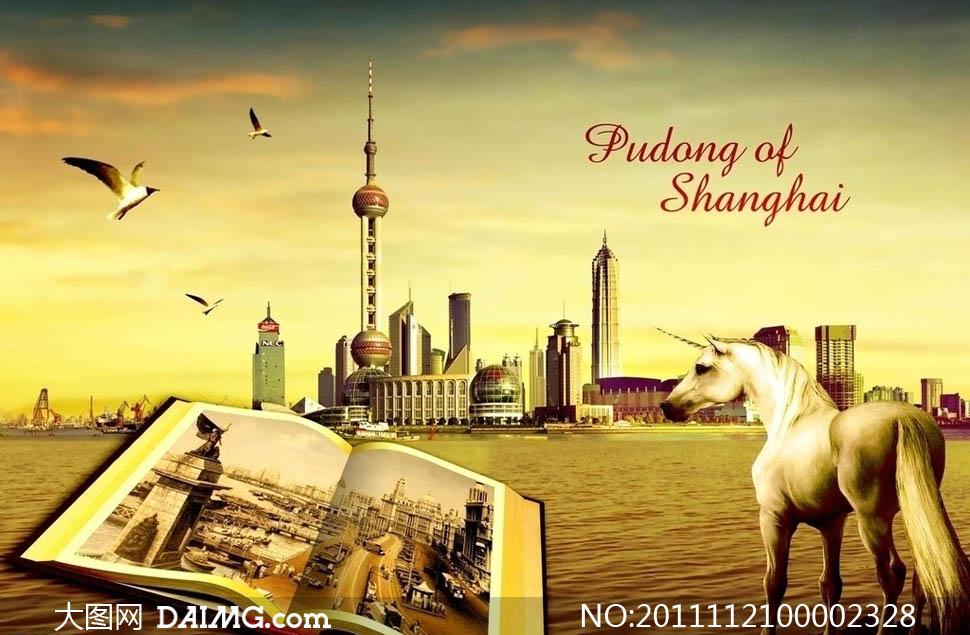 高清上海背景素材