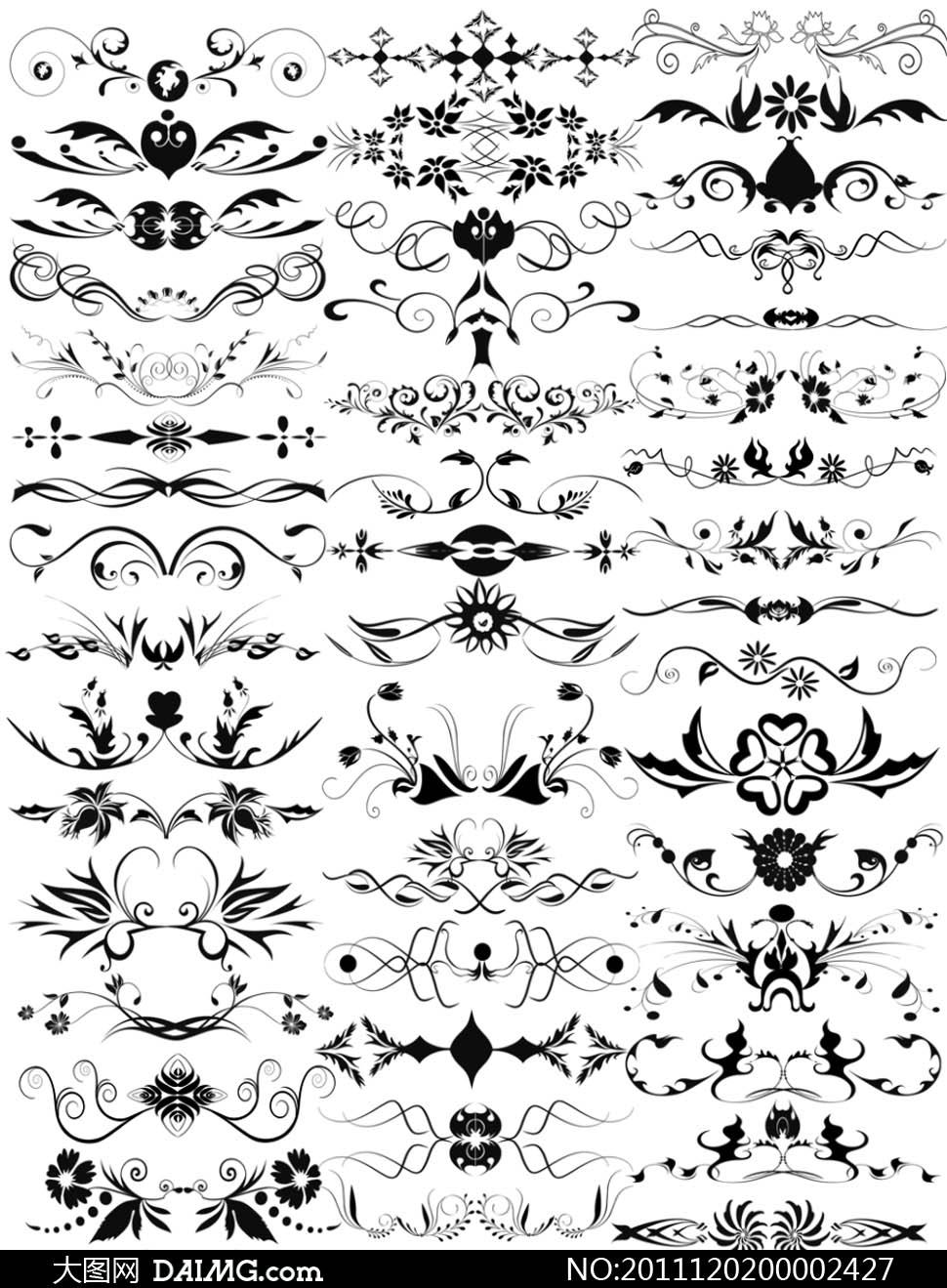 欧式花纹花朵纹身