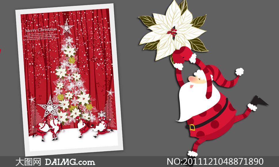 廭psd; 圣诞树素描; 创意圣诞树插画设计psd分层素材 - 大图网设计