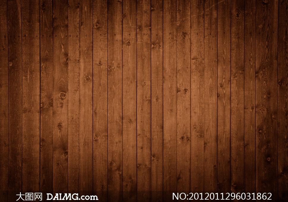 暗角效果的木板背景高清摄影图片