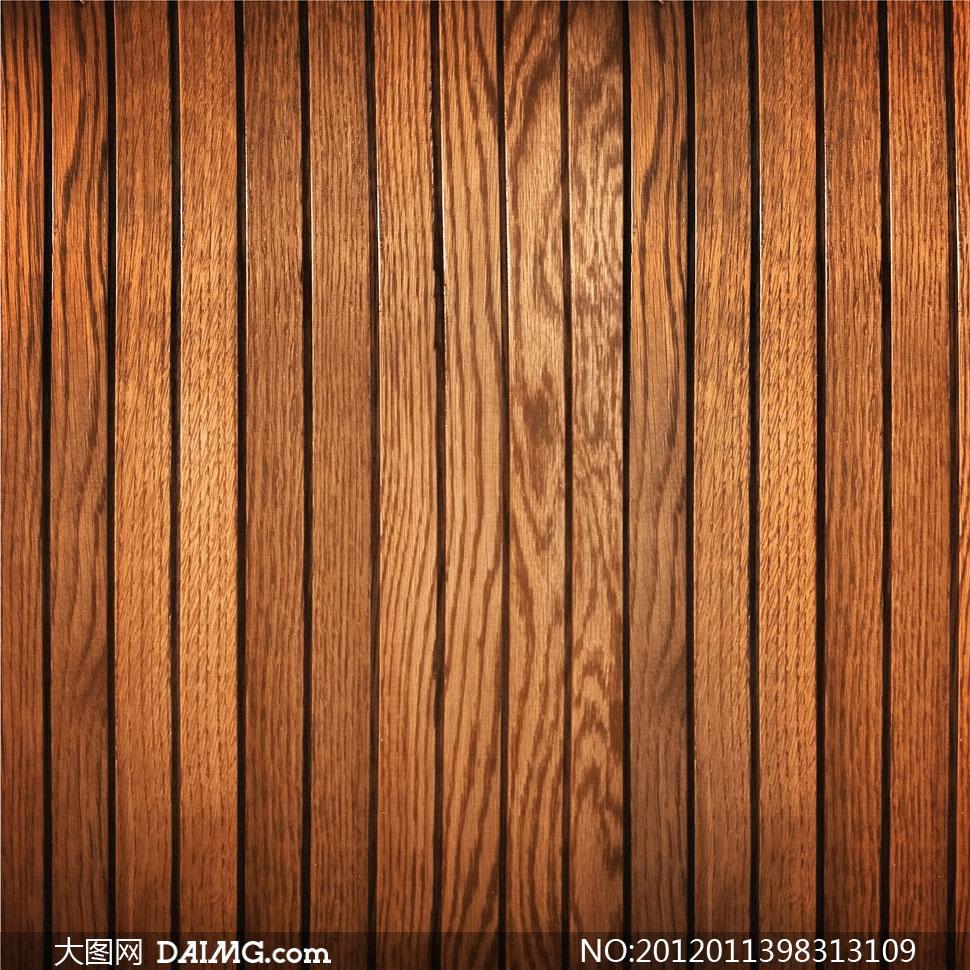 排列整齐的较窄木板条高清摄图片