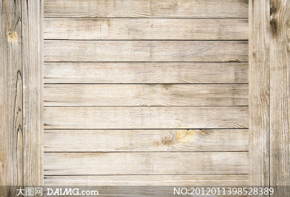 泛白木板条背景高清摄影图片