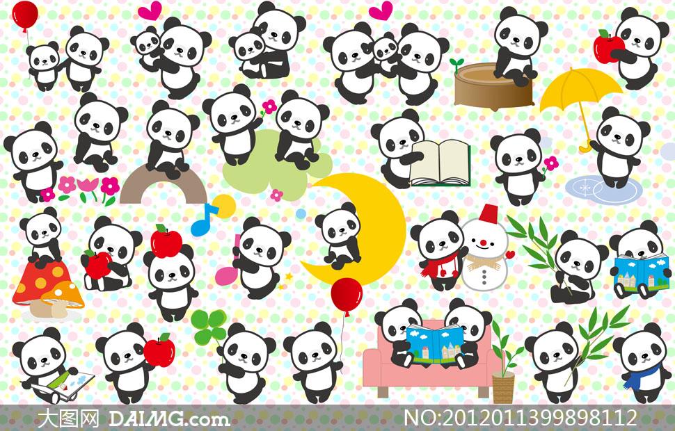 熊猫卡通图片大全可爱图片 卡通熊猫图片,卡通熊猫图片大全高清图片