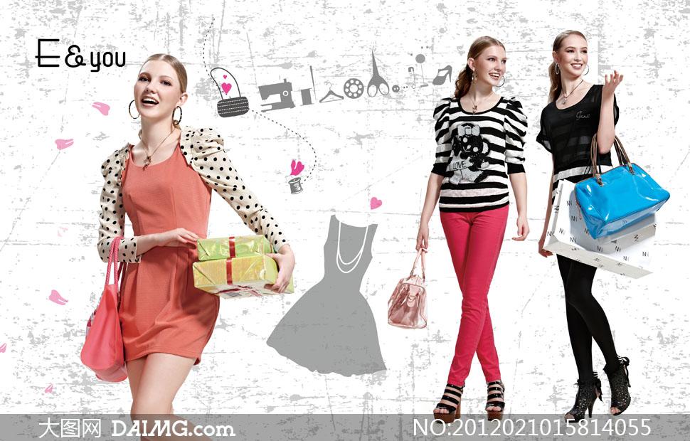 伊可爱服装名牌美女人物高清图片 - 大图网设计素材