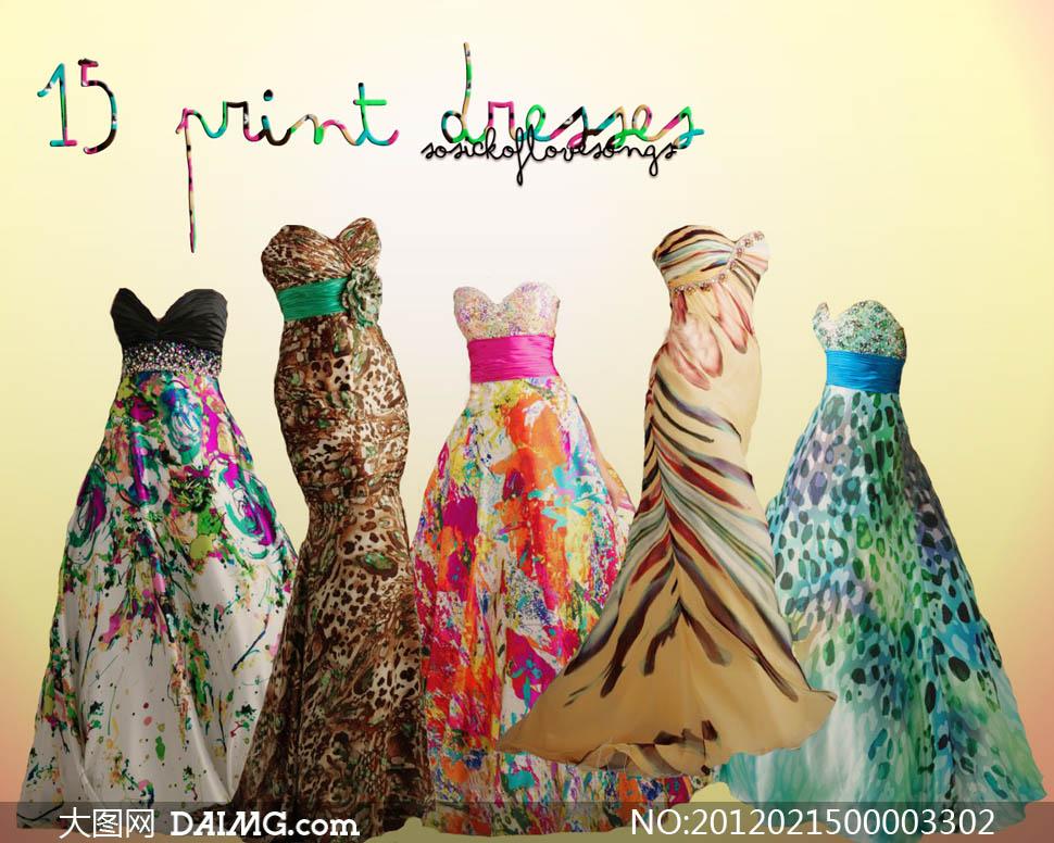 马克笔礼服设计图手稿展示