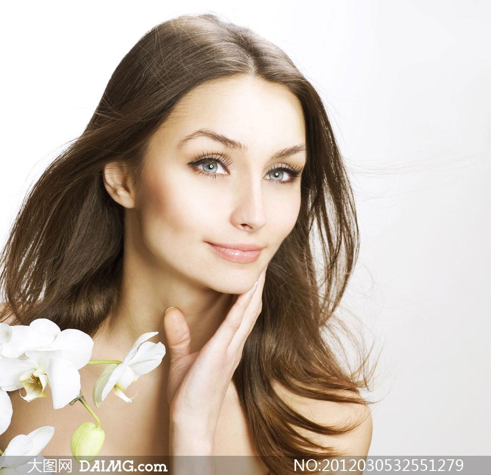 高清摄影图片大图素材美女女性人物女人头发发型美发