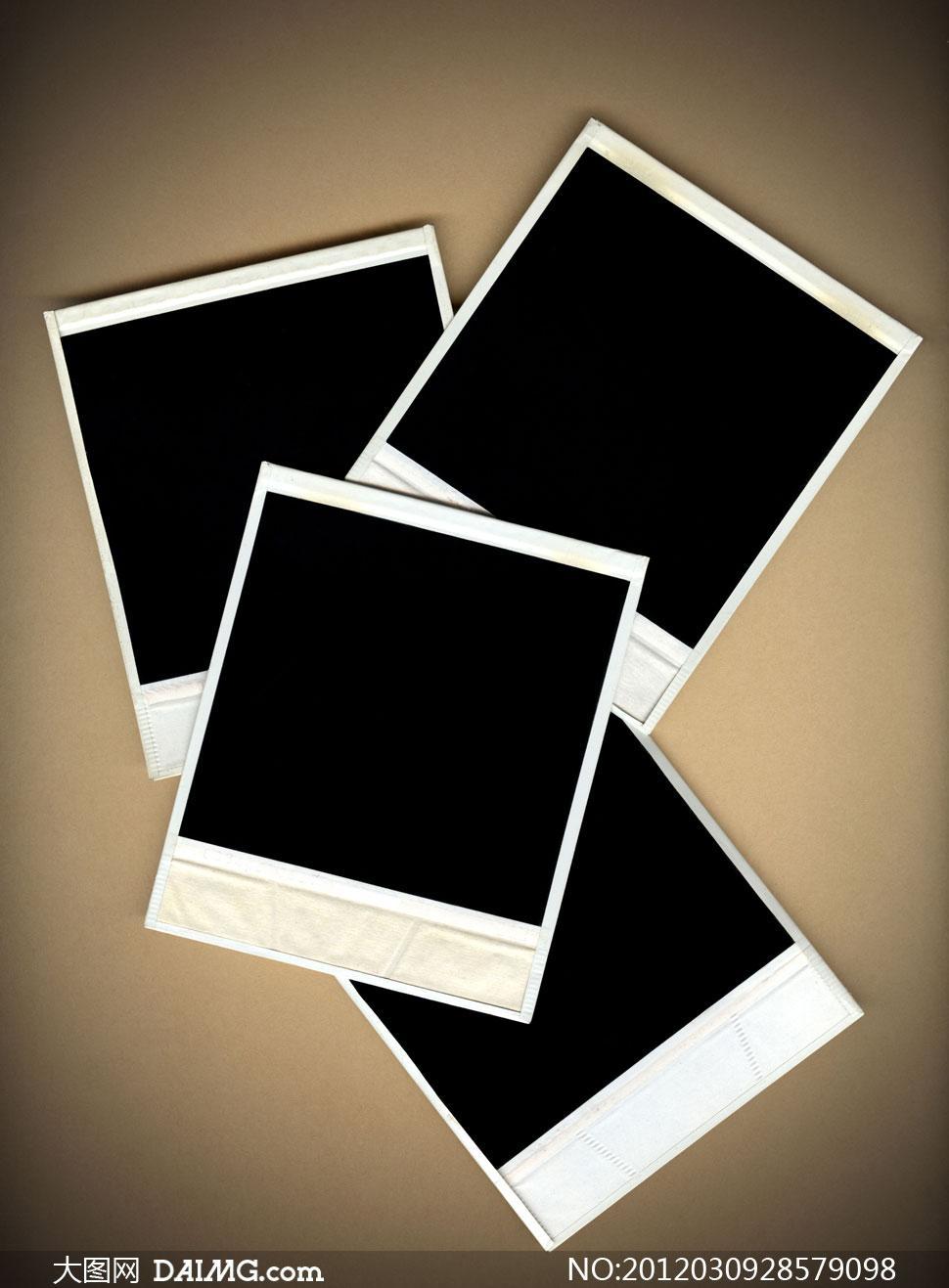 高清摄影图片大图素材复古宝丽来边框背景黑色照片