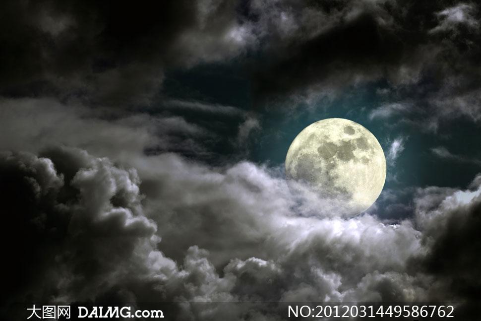 高清摄影大图素材图片自然风光风景景观景象月亮