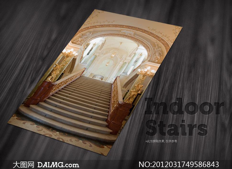 室内装修装饰效果图楼梯台阶阶