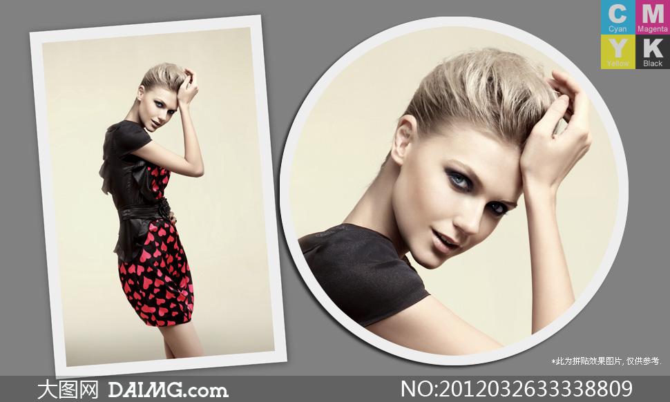 时尚服装广告外国美女模特摄影高清图片 大图