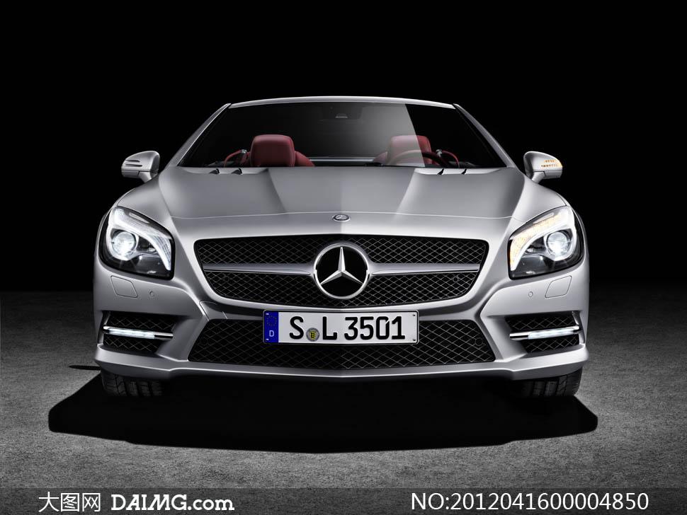 奔驰sl级跑车汽车摄影图片 - 大图网设计素材下载