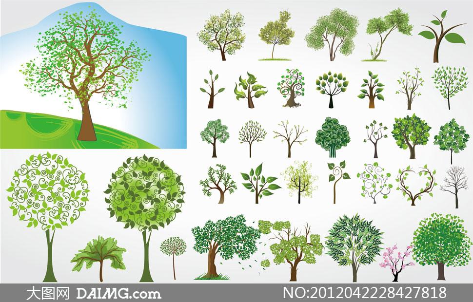大树树干矢量图_大树树干矢量图