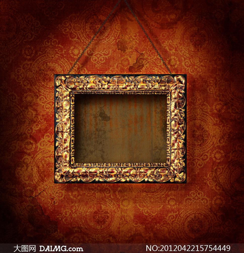 高清大图素材图片摄影墙壁墙上墙面画框相框
