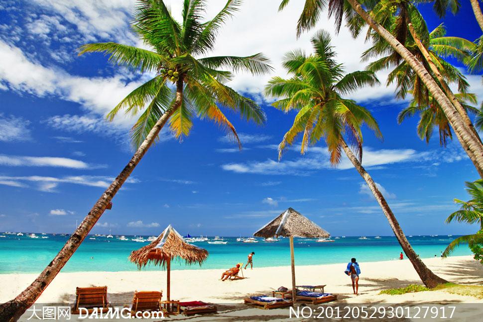 菲律宾长滩岛夏日风情摄影高清图片 - 大图网设计素材
