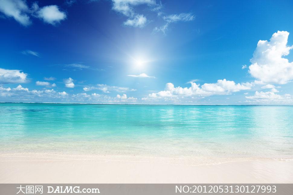 一望无际的大海风景摄影高清图片