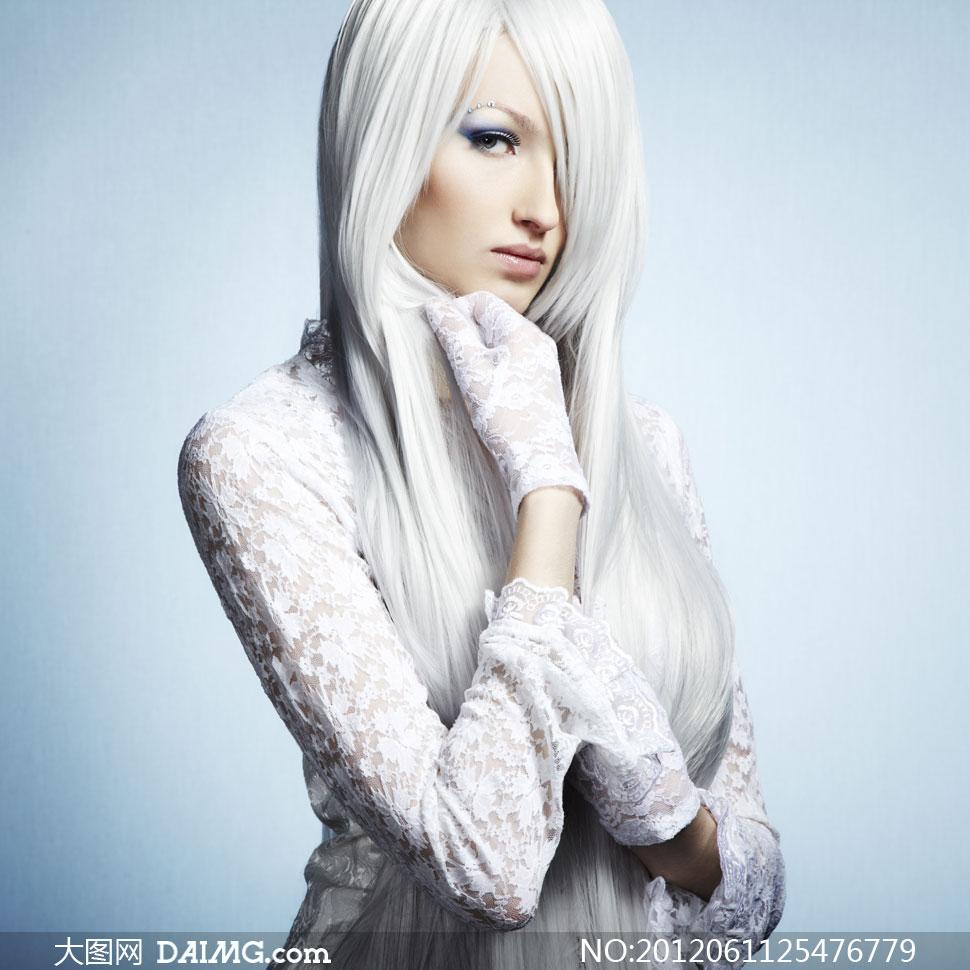 蕾丝镂空透视装美女模特高清图片