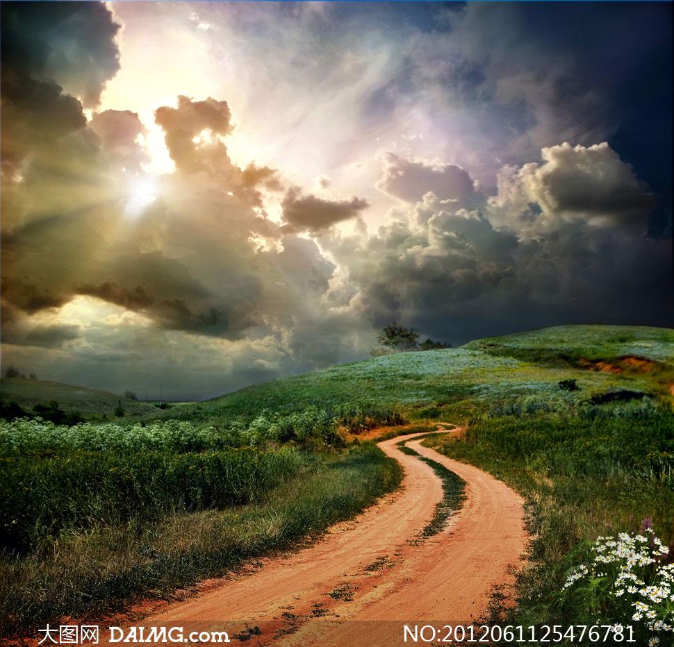 唯美小路路风景图