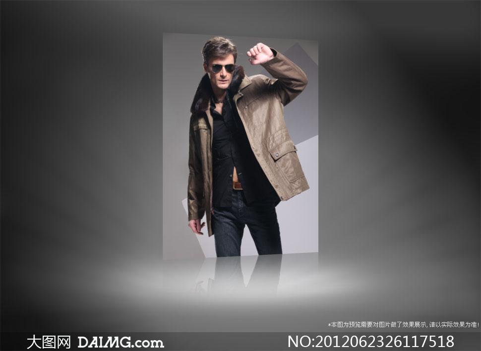 戴墨镜的男装模特人物摄影高清图片 - 大图网设计素材