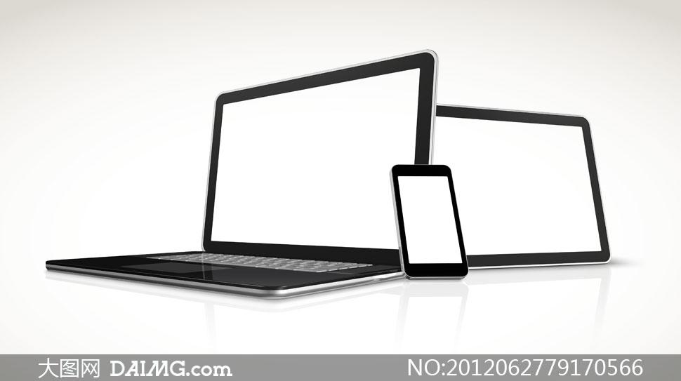 空白显示的手机与平板电脑高清