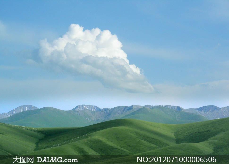 山坡风景图片手绘