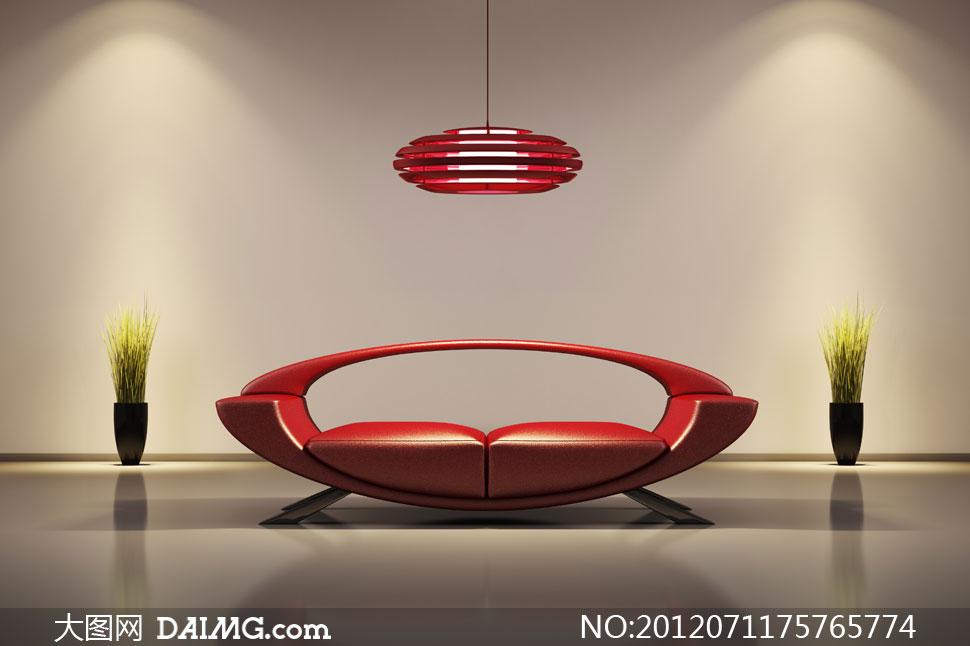 时尚创意概念室内家具摆设高清图片