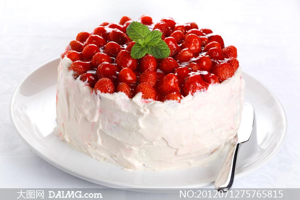 草莓奶油蛋糕_草莓蛋糕图片大全大图图片