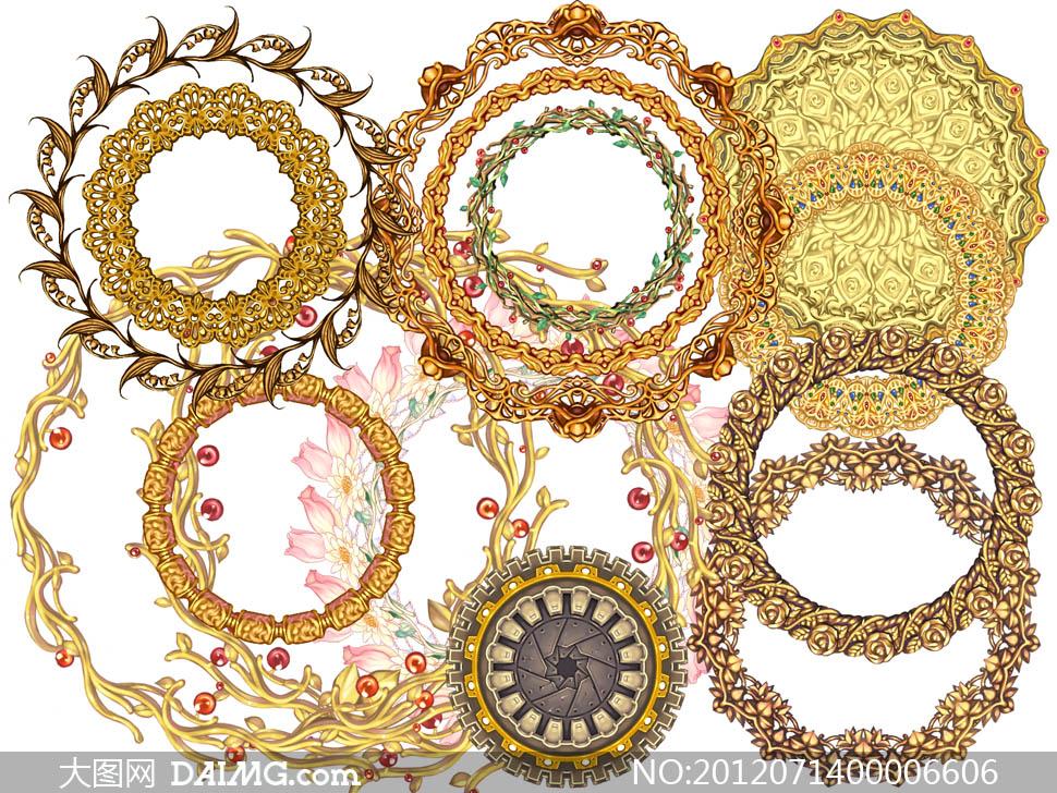 欧式花纹边框设计psd分层素材