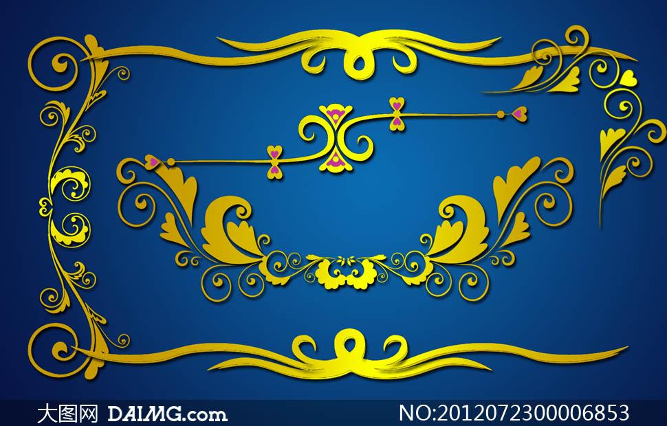 花纹欧式古典金色尊贵高贵华丽奢华豪华富贵金色金边