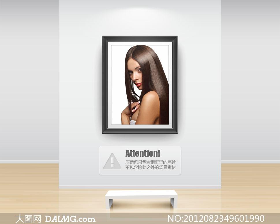 亮泽黑色披肩发美女摄影高清图片 大图网设计