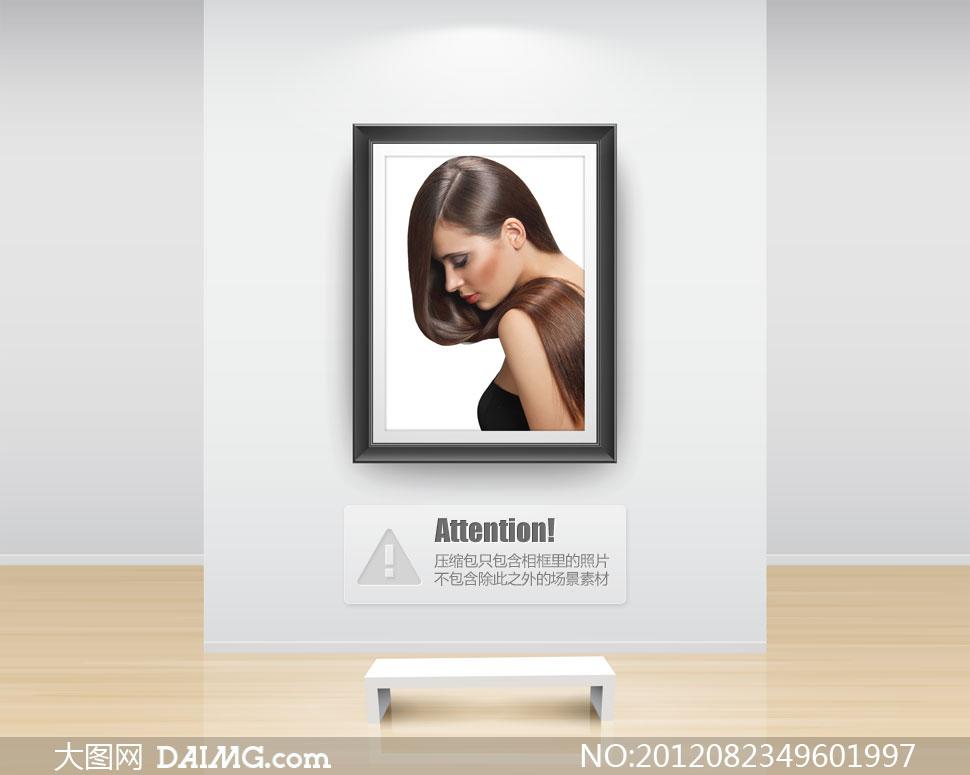 低着头的亮泽秀发美女摄影高清图片 大图网设