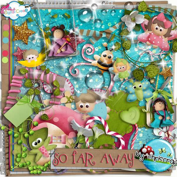 可爱娃娃和花朵藤蔓等剪贴图片素材