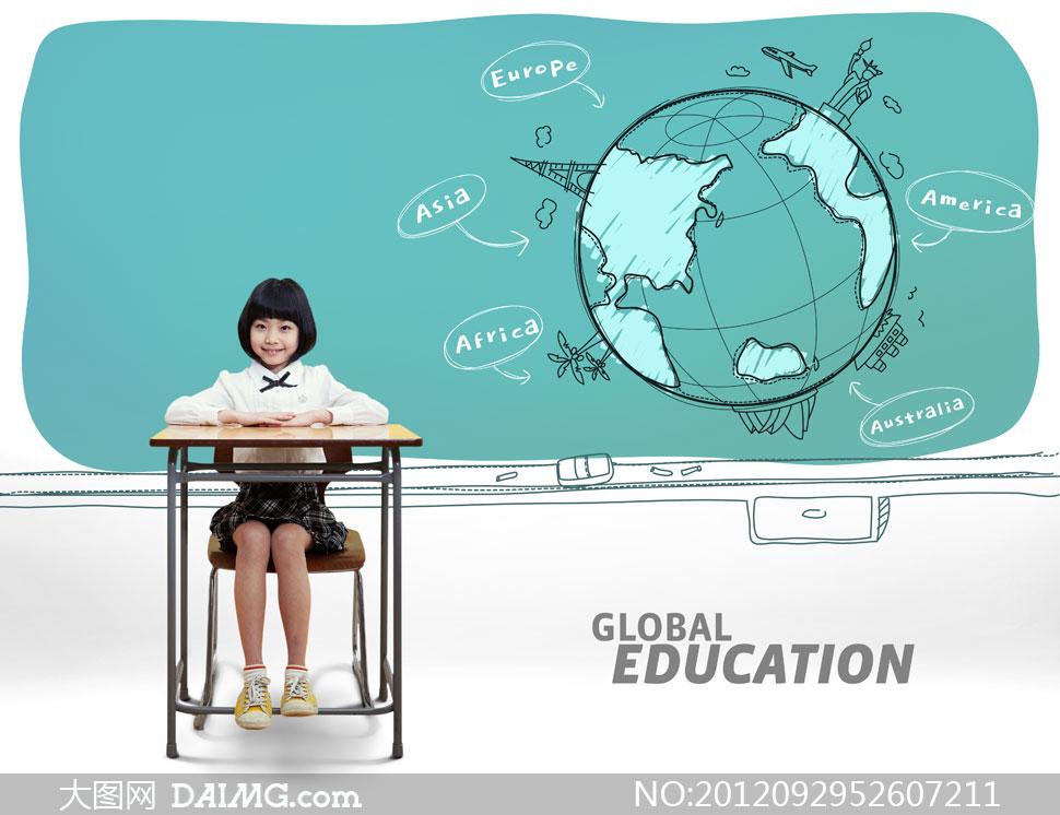课桌椅子飞机自由女神像简笔画小学生europeasia