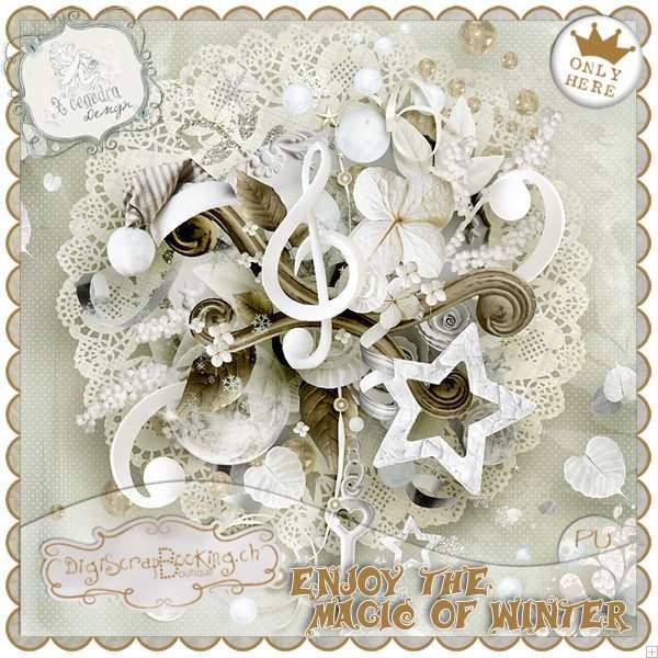 冬季雪花和金属装饰等图片素材
