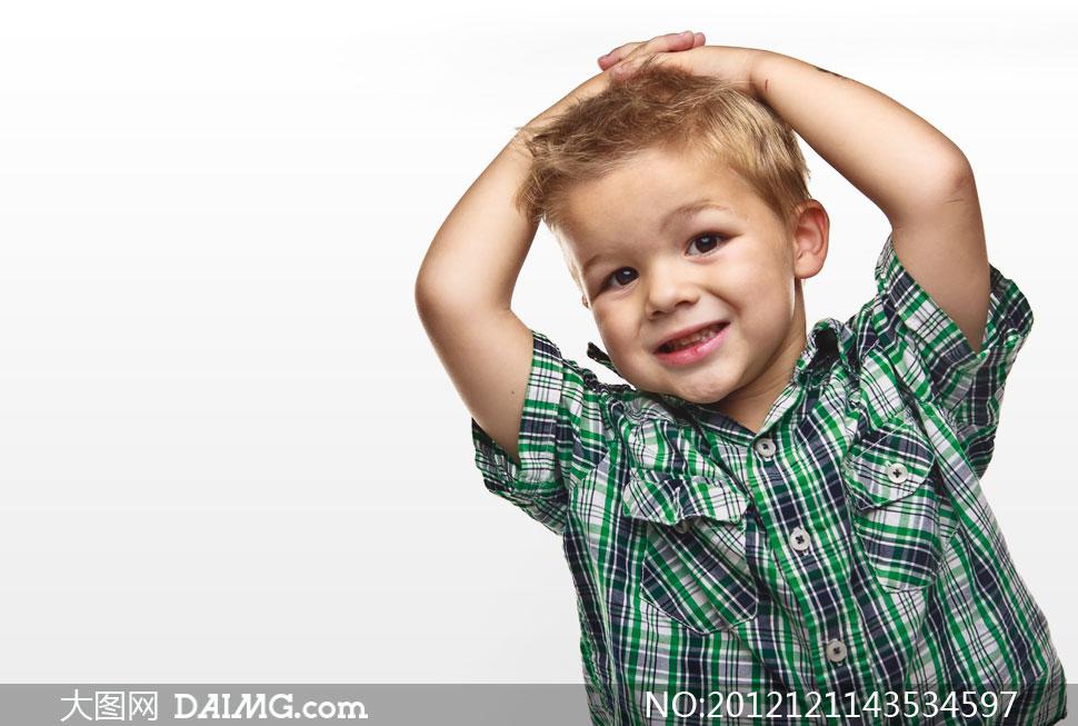 高清摄影大图图片素材人物小男孩小男生外国国外开心笑容儿童可爱